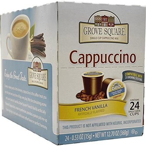 Grove Square Cappuccino French Vanilla 24 Count Single ...