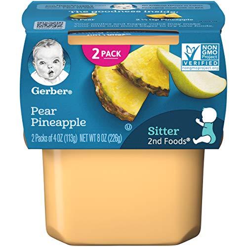 Gerber 2nd Foods Pear Pineapple 4 oz Tubs 2 Count Pack ...
