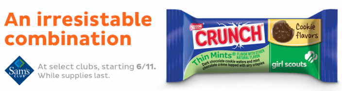FREE Nestlé Crunch Girl Scouts Candy Bars At Sam's Club For Members!