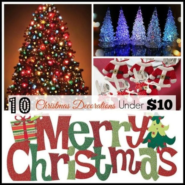10 Christmas Decorations Under $10!