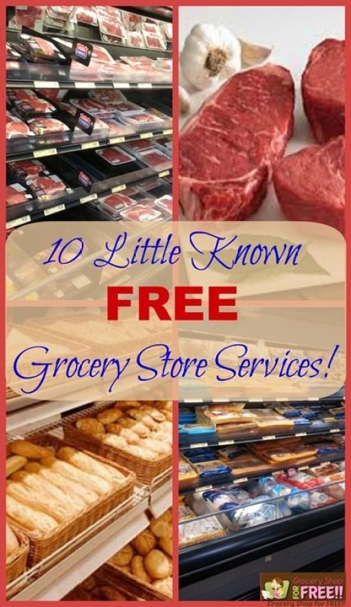 10 Little Known FREE Grocery Store Services