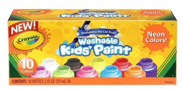 Crayola Washable Kid's Neon Paint Set 10ct Just $4.99! Down From $8.99!