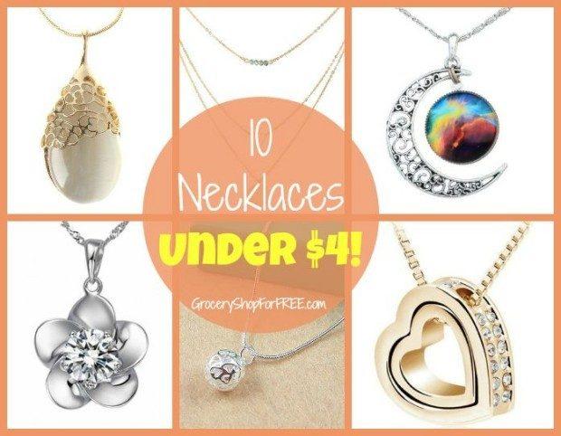 10 Necklaces Under $4!