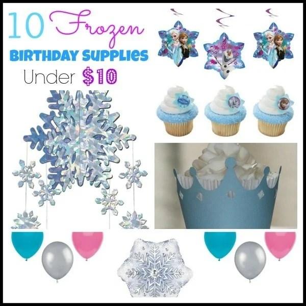 10 frozen birthday supplies under $10