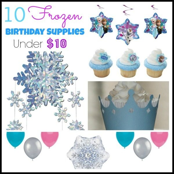 10 frozen birthday supplies under $10