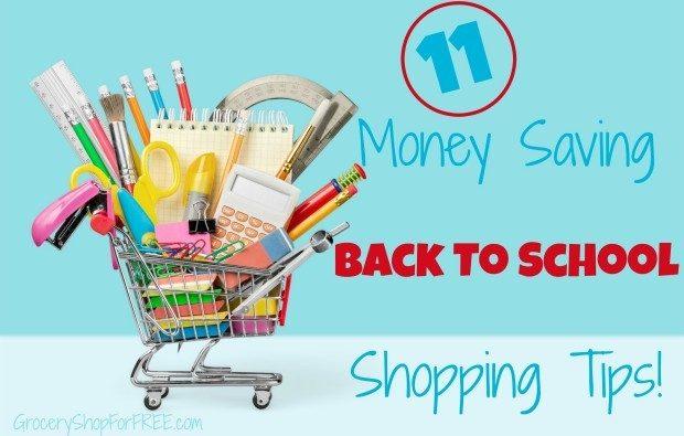 11 Money Saving Back To School Shopping Tips!