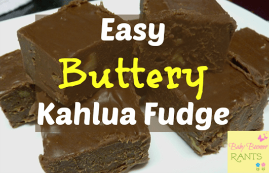 Easy Buttery Kahlua Fudge!