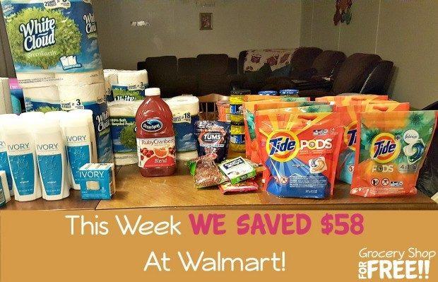 This Week We Saved $58 At Walmart!