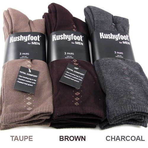 Kushyfoot Mens Padded & Comfortable Dress Socks 3 Pack Only $5.99 Plus FREE Shipping!
