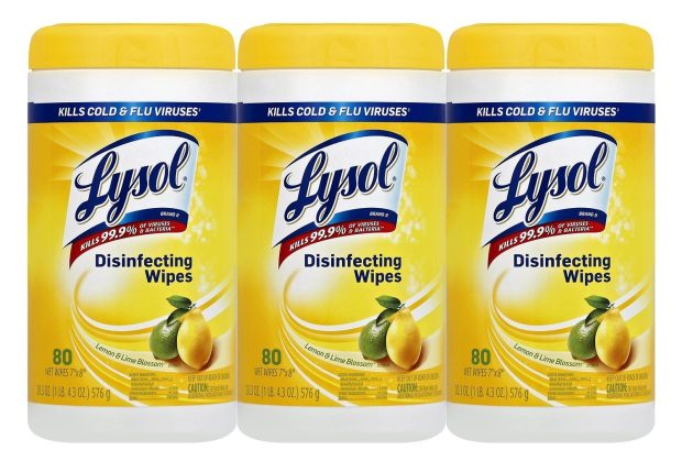 Lysol Disinfecting Wipes, Lemon and Lime Blossom, 240 Count (3-Pack) Just $6.71!