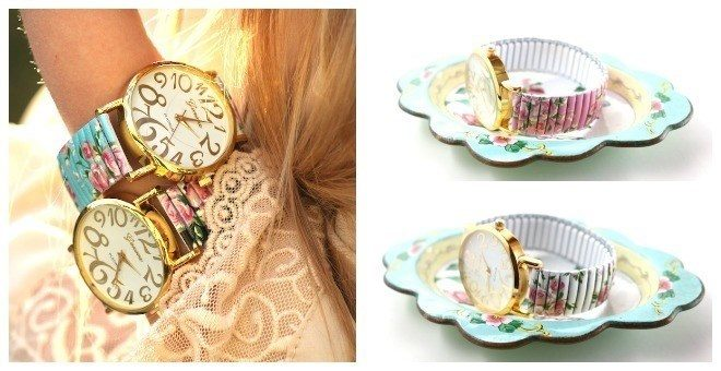 Large Dial Floral Watch Only $7.99! Down From Up To $29.00!