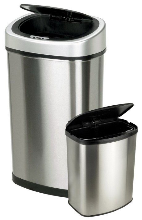 2 Touchless Automatic Motion Sensor Trash Cans Just $49.98!  Down From $100!