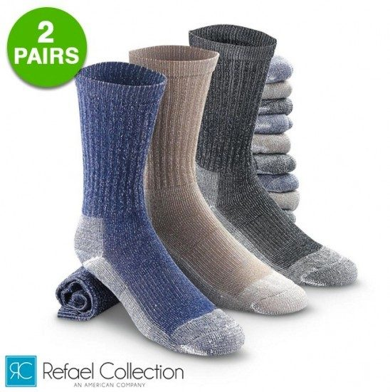 2 Pairs: Merino Wool Thermal Socks By RC Collection Just $3.99 Down From $24.99! Ships FREE!