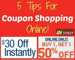 5 Tips For Coupon Shopping Online!