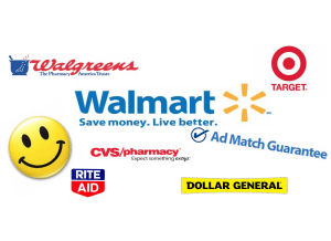Walmart:  Drug And Dollar Stores Ad Match!