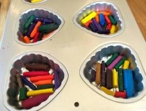 broken crayons in heart