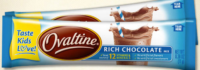 free ovaltine chocolate mix sample