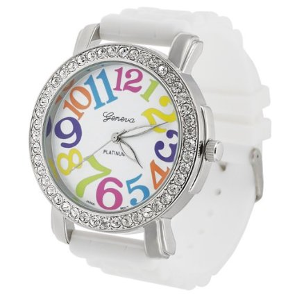 Geneva Large Face Silicone Watch Only $4.19 + FREE Shipping!
