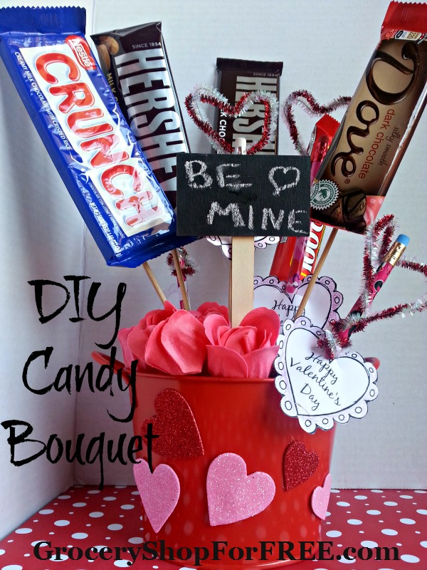 DIY Valentine's Day Candy Bouquet!