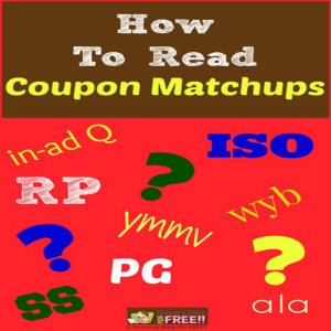 How To Read Coupon Matchups!