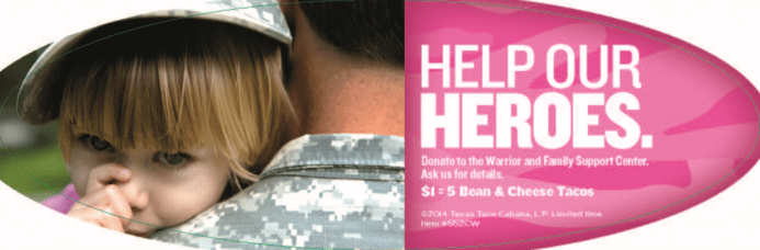 Dallas/Fort Worth Taco Cabana Fundraiser For Troops Means FREE Food For You