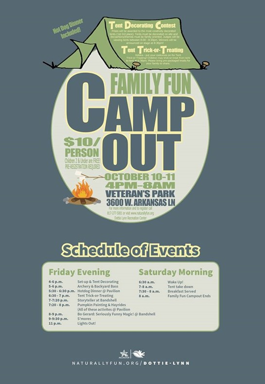 Family Fun Camp Out In Arlington