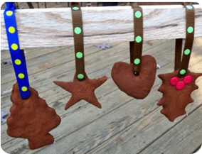 Homemade Applesauce Cinnamon Ornaments!