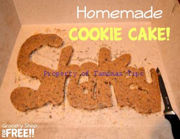 Homemade Cookie Cake!