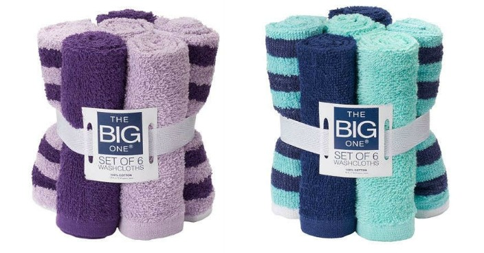The Big One 6-Pack Washcloths Only $2.54! Down From $10!