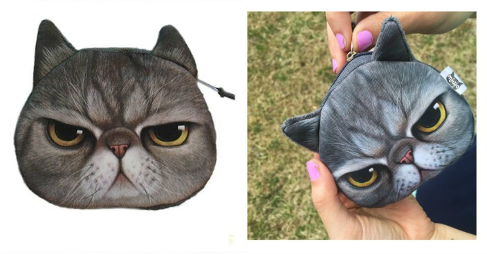 Grumpy Kitty Face Coin Purse Just $3! Down From $13!