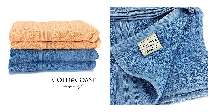 Luxurious Gold Coast 100% Combed Cotton Towels Just $2.99! Down From $12!
