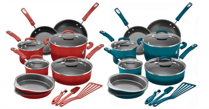 Rachael Ray 15-Piece Nonstick Cookware Set Just $99.99! Down From $290!