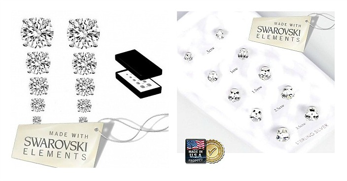 Set of 5 9.00 CTW Swarovski Stud Earrings Just $17.99! Down From $150! Ships FREE!
