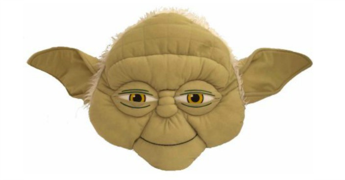 Star Wars Episode VII Yoda Face Pillow Just $8! Down From $15!
