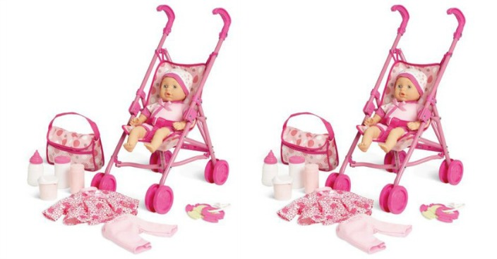 Kid Connection Baby Doll Stroller Play Set Just $15!