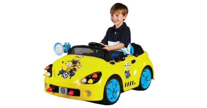Minions Rocket Car Battery-Powered Ride-On Just $89! Down From $199!