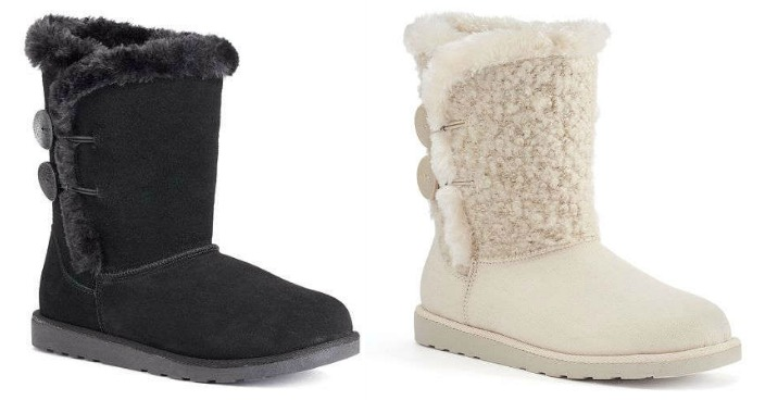 SO Plush Button Boots Just $16.99! Down From $70!