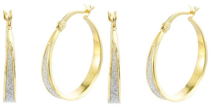 FREE Gold Over Glitter Silver Hoop Earrings!