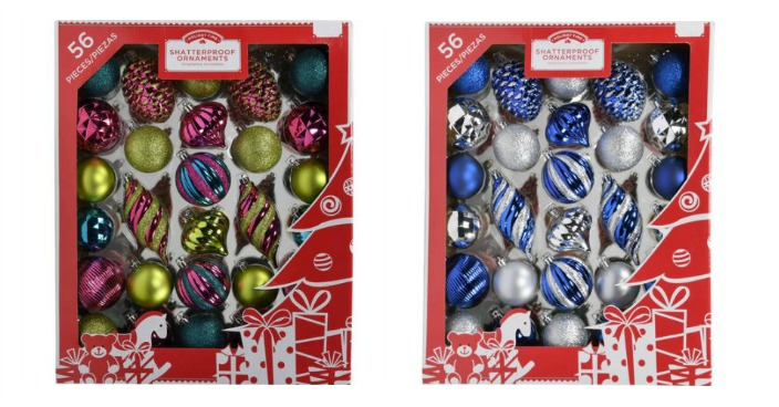 Holiday Time Shatter Proof Christmas Ornaments Just $8.72! Down From $17!