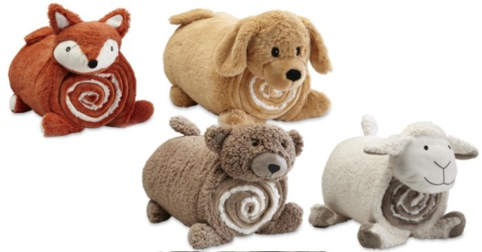 Kids' Sherpa Cuddle Friend & Throw Set Only $9.99! Down From $20!