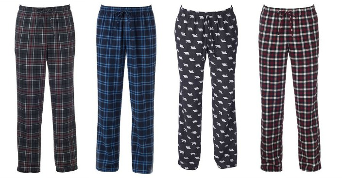 Men's Flannel Pajama Pants Only $6.99! Down From $24!