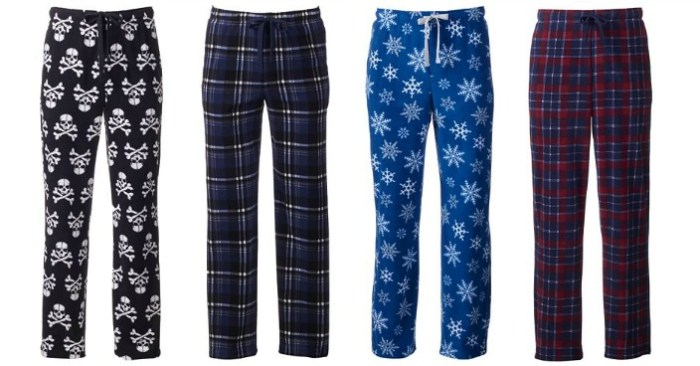 Men's Microfleece Lounge Pants Only $3.74! Down From $24!