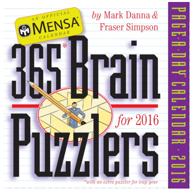 Mensa 365 Brain Puzzlers Page-A-Day Calendar 2016 Just $7 Down From $14!