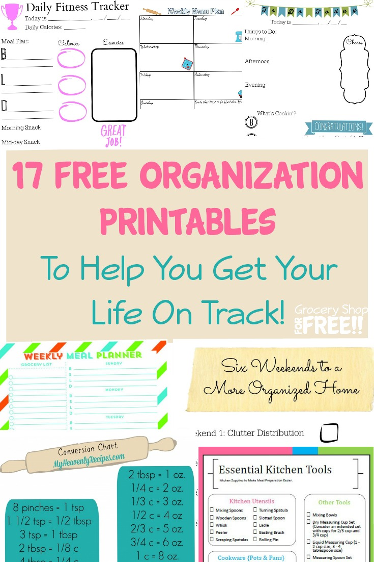 17 FREE Organization Printables