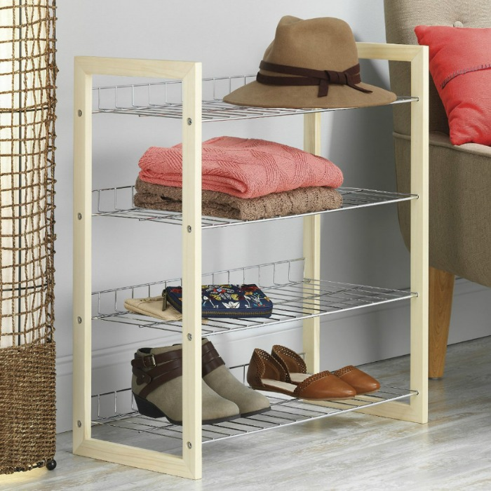 Whitmor 4 Tier Closet Shoe Shelves Just $17.94! Down From $47!