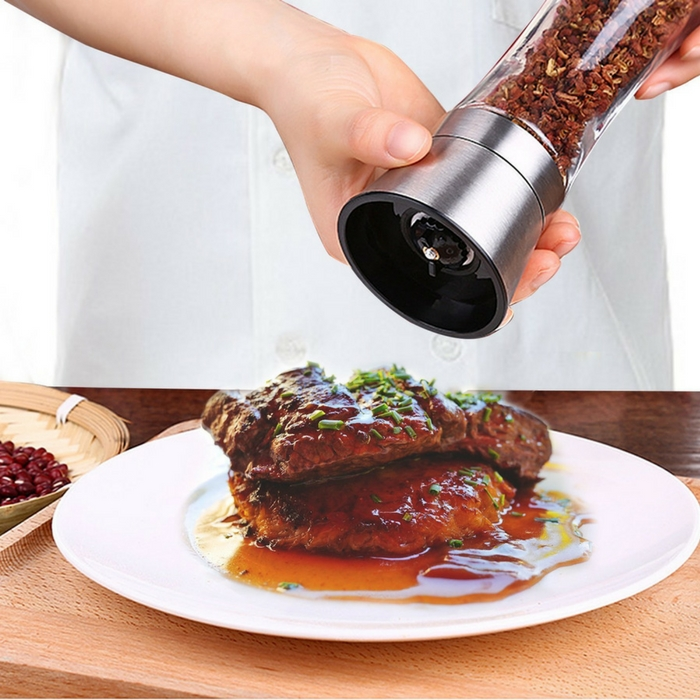 Veego Pepper Mill & Salt Grinder Just $7.99! Down From $21!