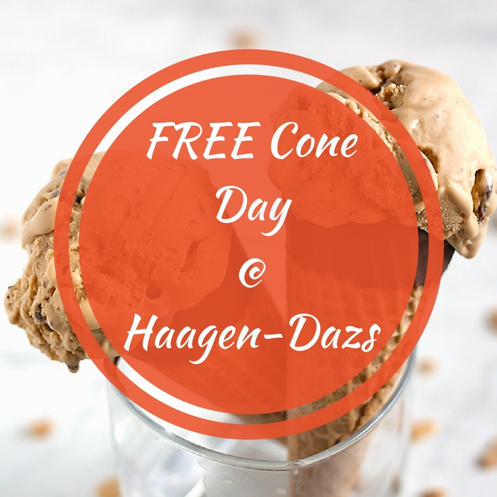 FREE Cone Ice Cream At Haagen-Dazs! TODAY ONLY!