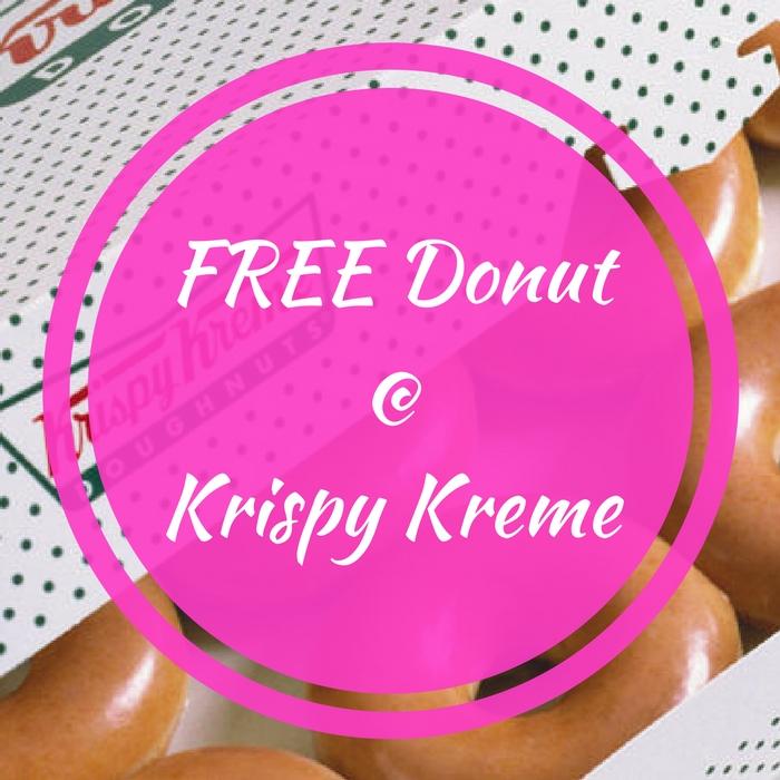 FREE Donut At Krispy Kreme!