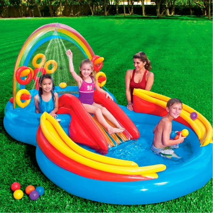 Intex Rainbow Ring Inflatable Play Center Just $38.18! Down From $60! PLUS FREE Shipping!