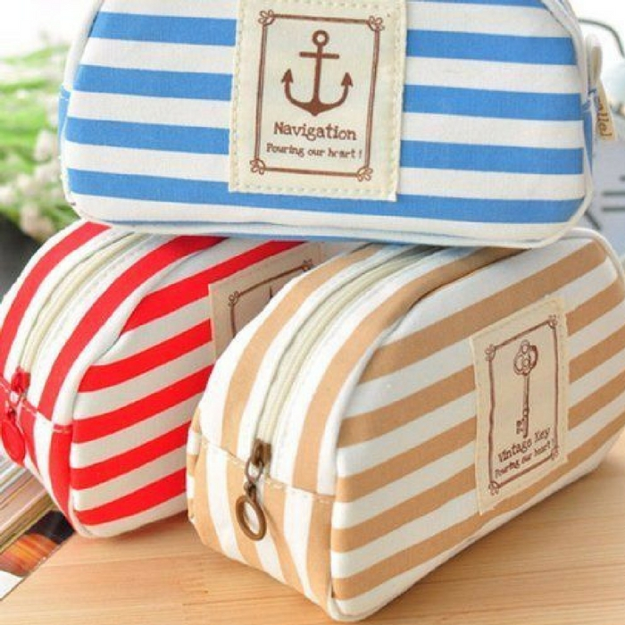 Striped Cosmetic Pouch Just $2.66! PLUS FREE Shipping!